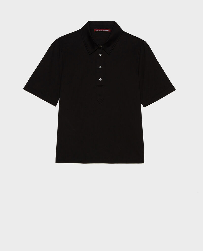 Polo en coton Black beauty Levas