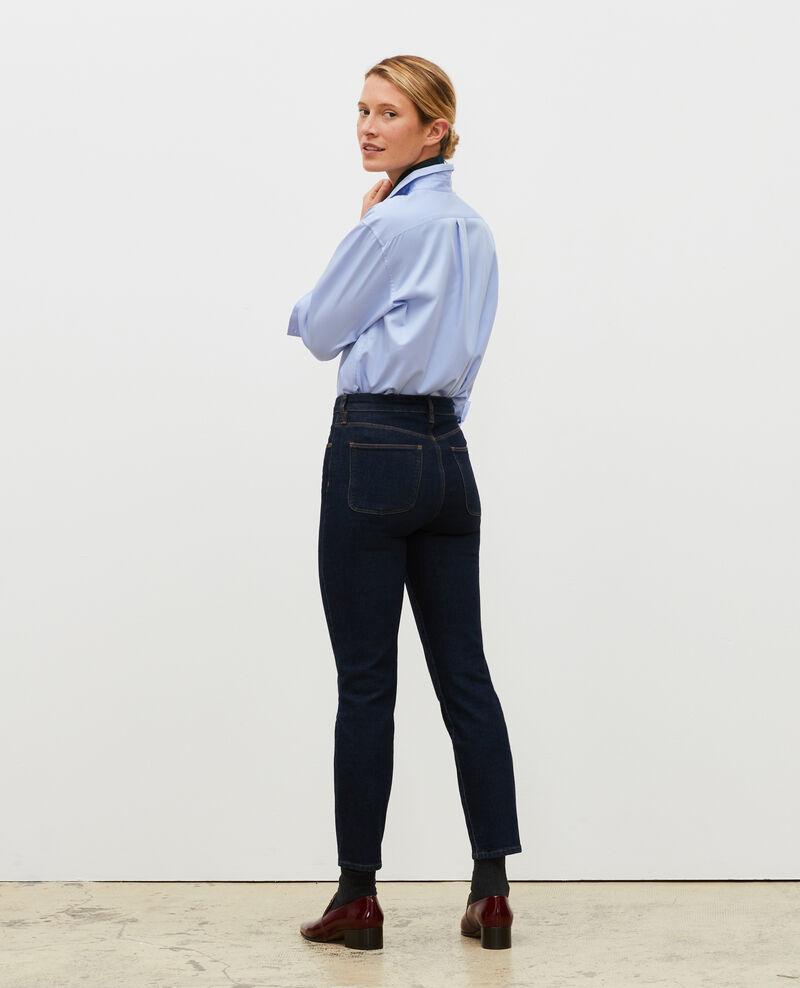 SLIM HIGH RISE - Jean cropped 5 poches Denim rinse Mervilla