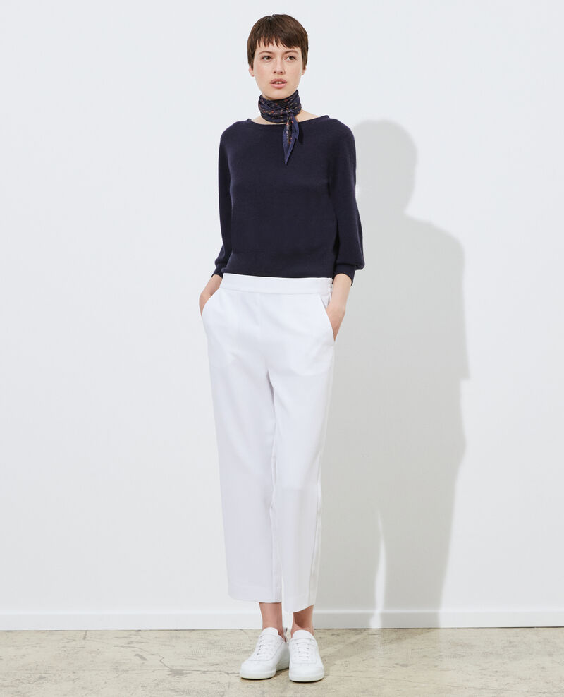 Pantalon fluide élastiqué Brilliant white Luant