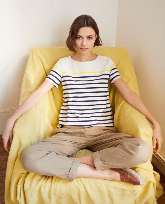 T-shirt marinière OW/NAVY/YELLO