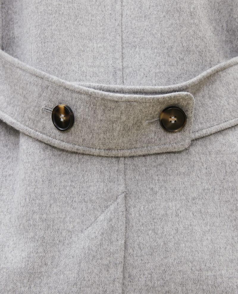 Manteau caban en lainage double face Light grey Lintot