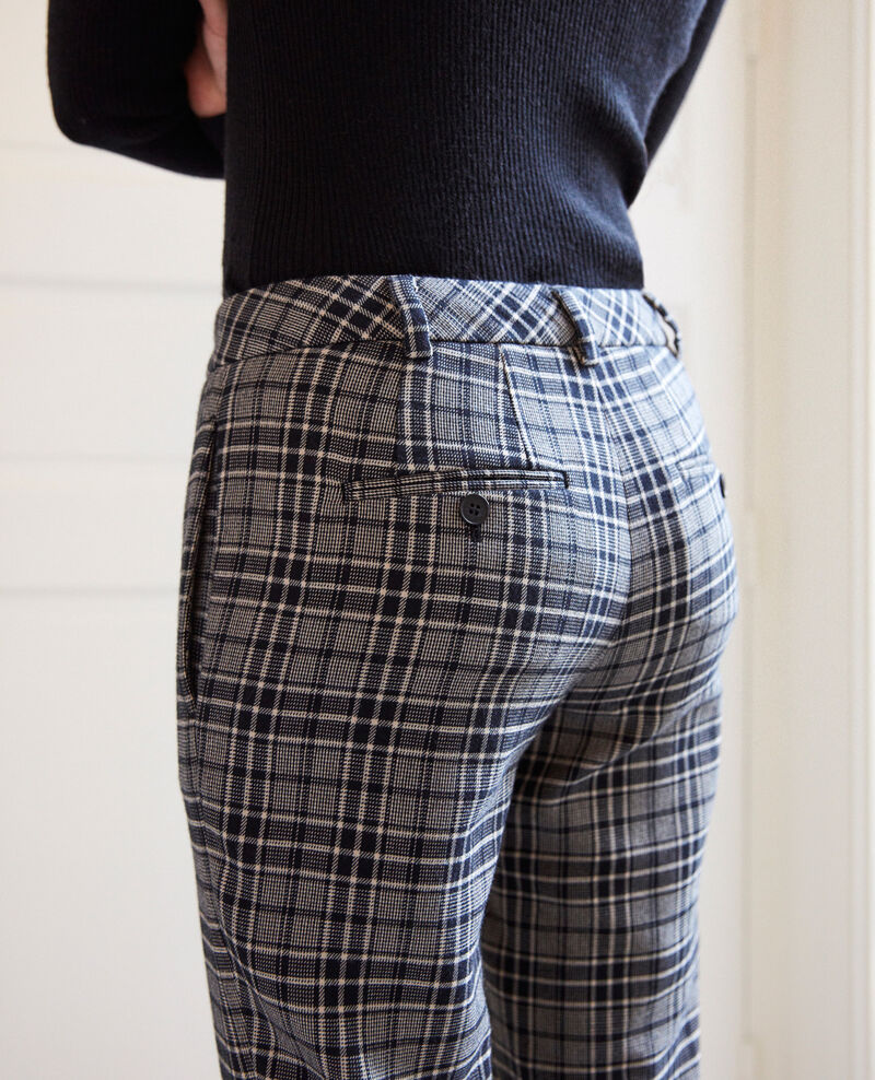 Pantalon coupe droite Prince de galles Jillica