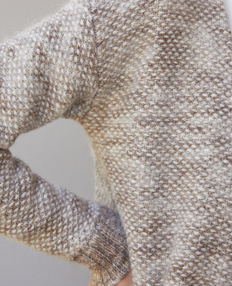 Gilet en maille chinée Silver gray/trush Gordius