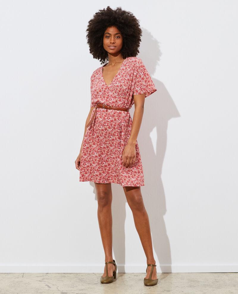Robe courte en soie Art deco pink Pabydoll