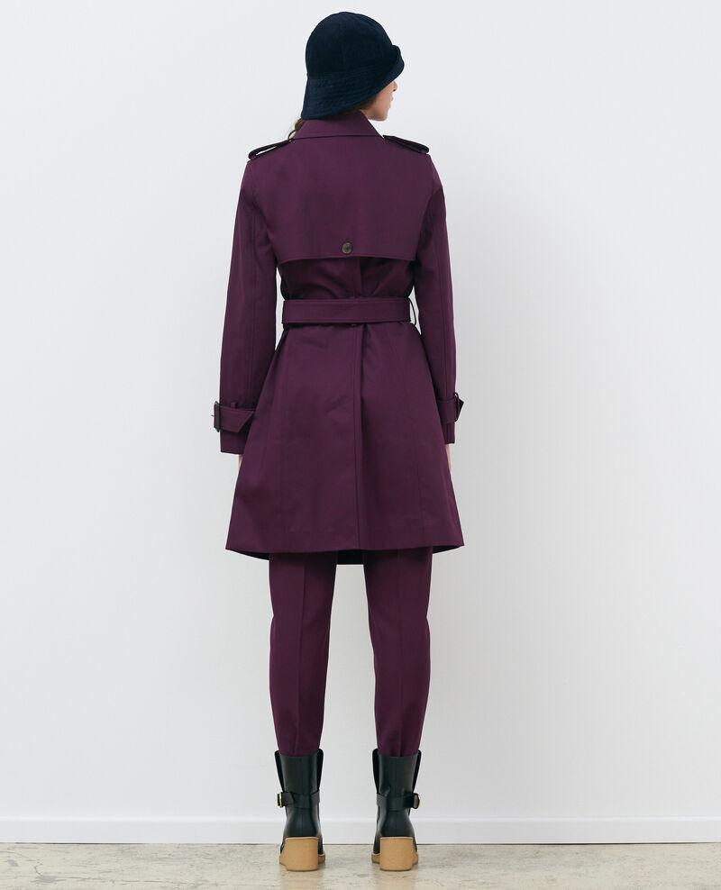 CATHERINE - Trench ceinturé mi-long en coton Potent purple Mambert