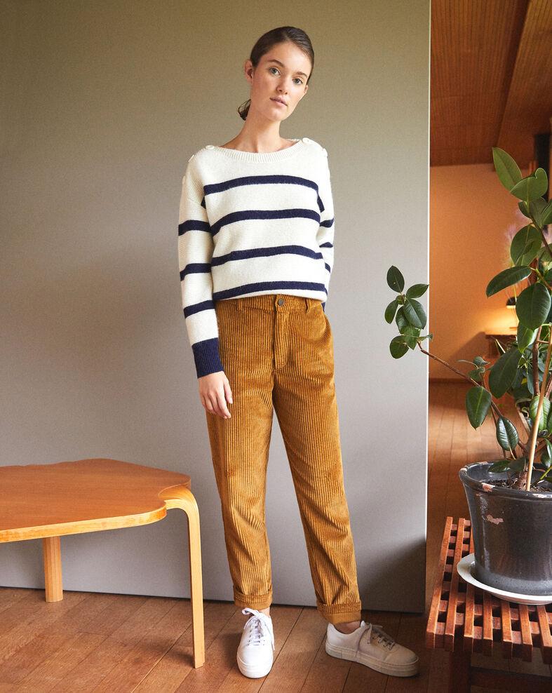 Pantalon en gros velours côtelé Golden brown Ganasso