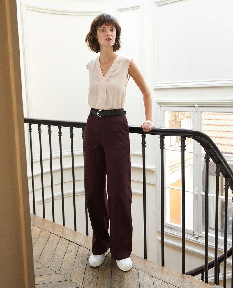 Pantalon coupe ample Decadente chocolate Gabin