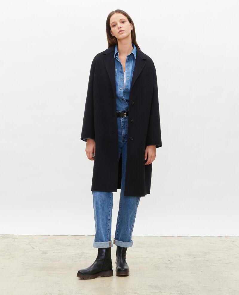 Manteau en laine Black beauty Maclas