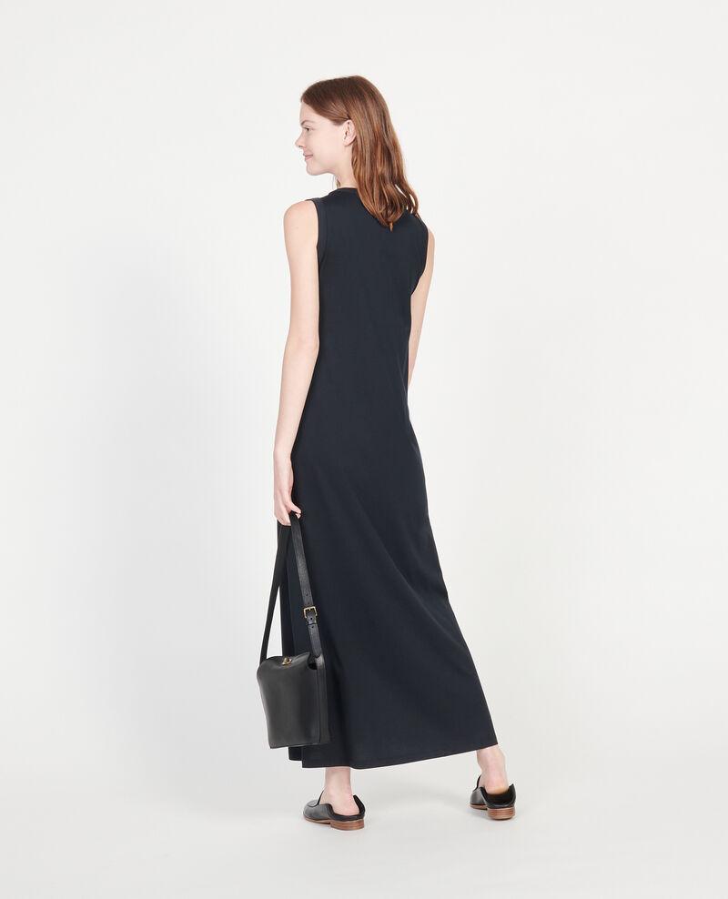 Robe longue en coton mercerisé Black beauty Larosa