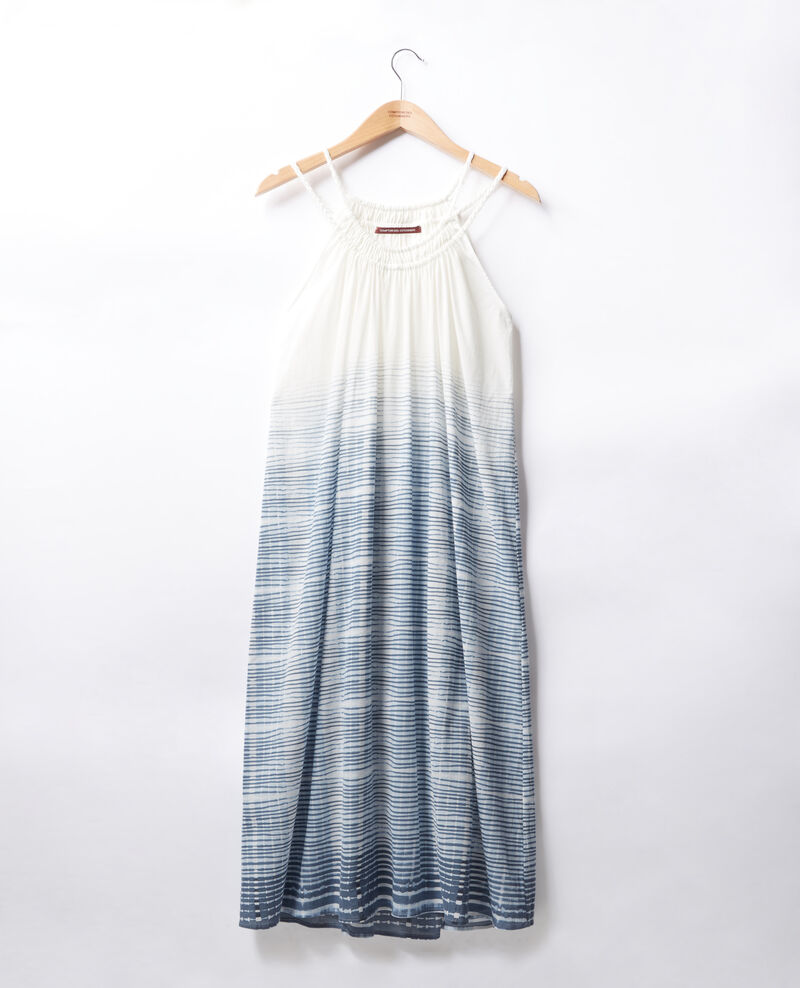 Robe à fines bretelles Tie&dye washed blue Fummer