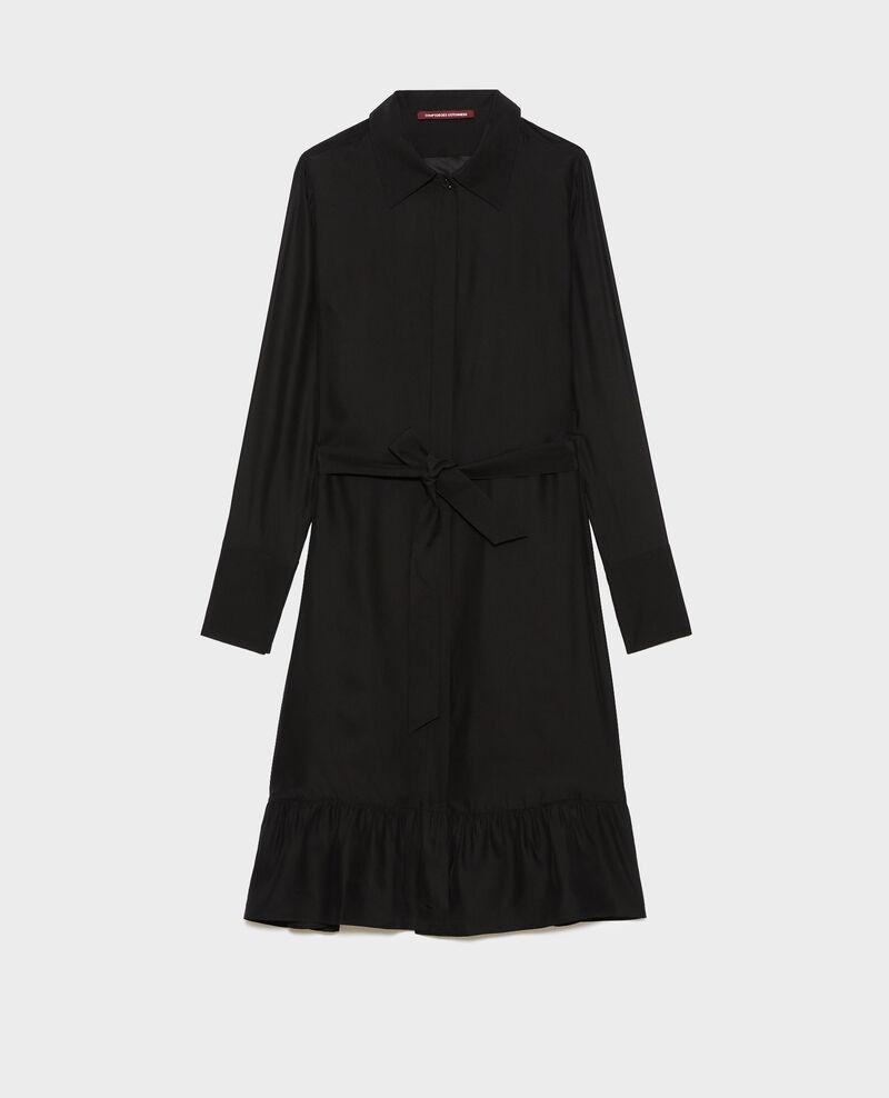 Robe chemise en soie Black beauty Nishiga