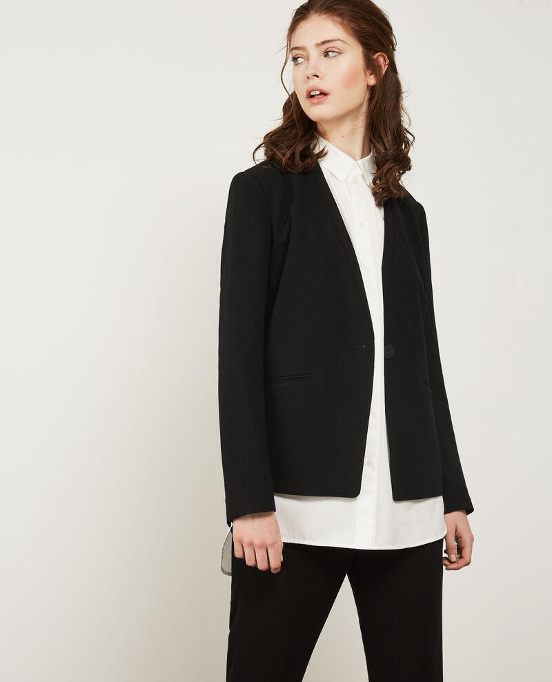 veste tailleur femme couleur noir dino comptoir des cotonniers. Black Bedroom Furniture Sets. Home Design Ideas