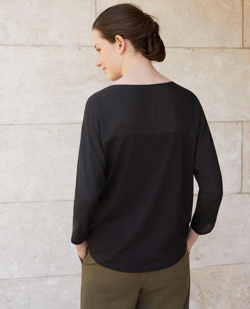 T-shirt bi-matière Noir Genious