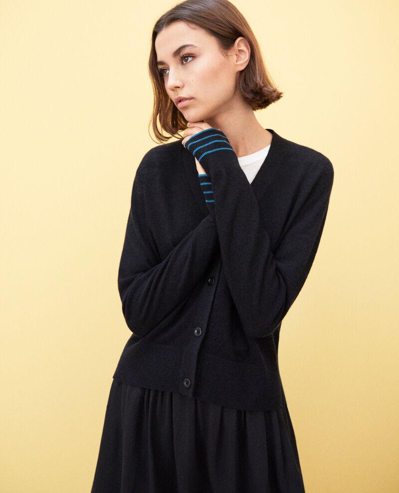 Cardigan en laine Noir Idada