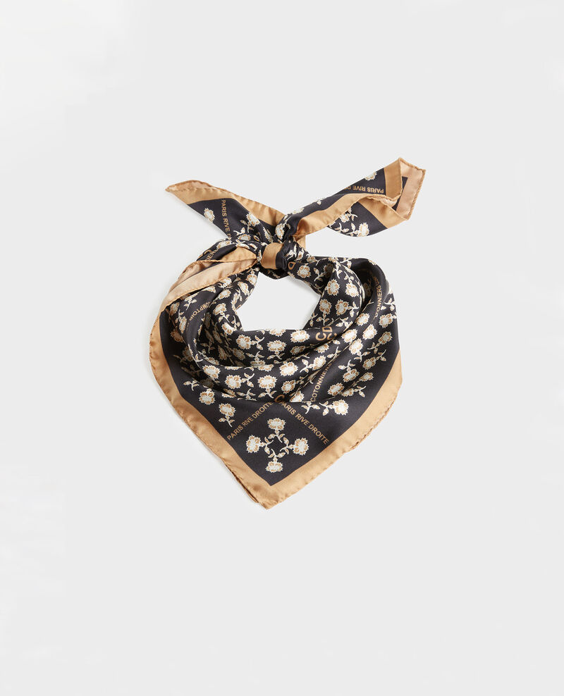 Foulard carré de soie Black beauty Mediteranee