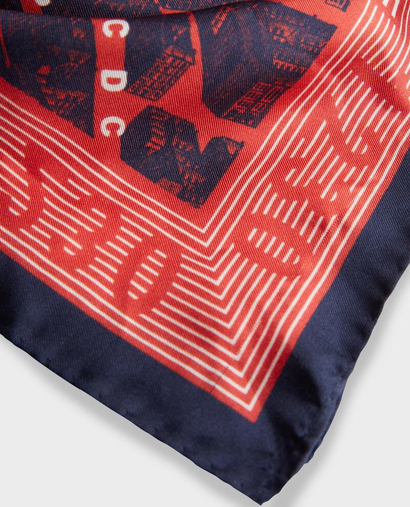 Foulard carré de soie Valiant poppy Mamap