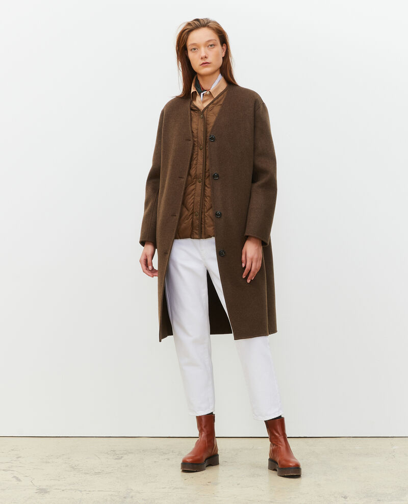 Manteau en laine double face Heather kaki Muuck