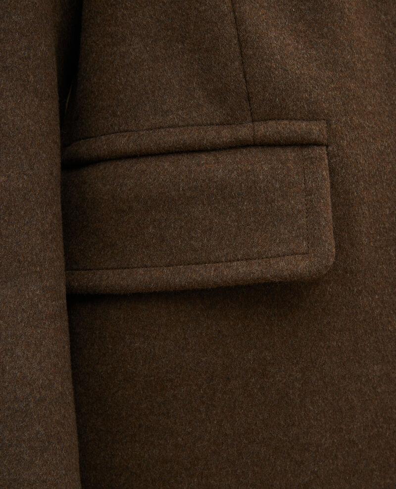 Pardessus masculin en laine et cachemire Kaki Maule