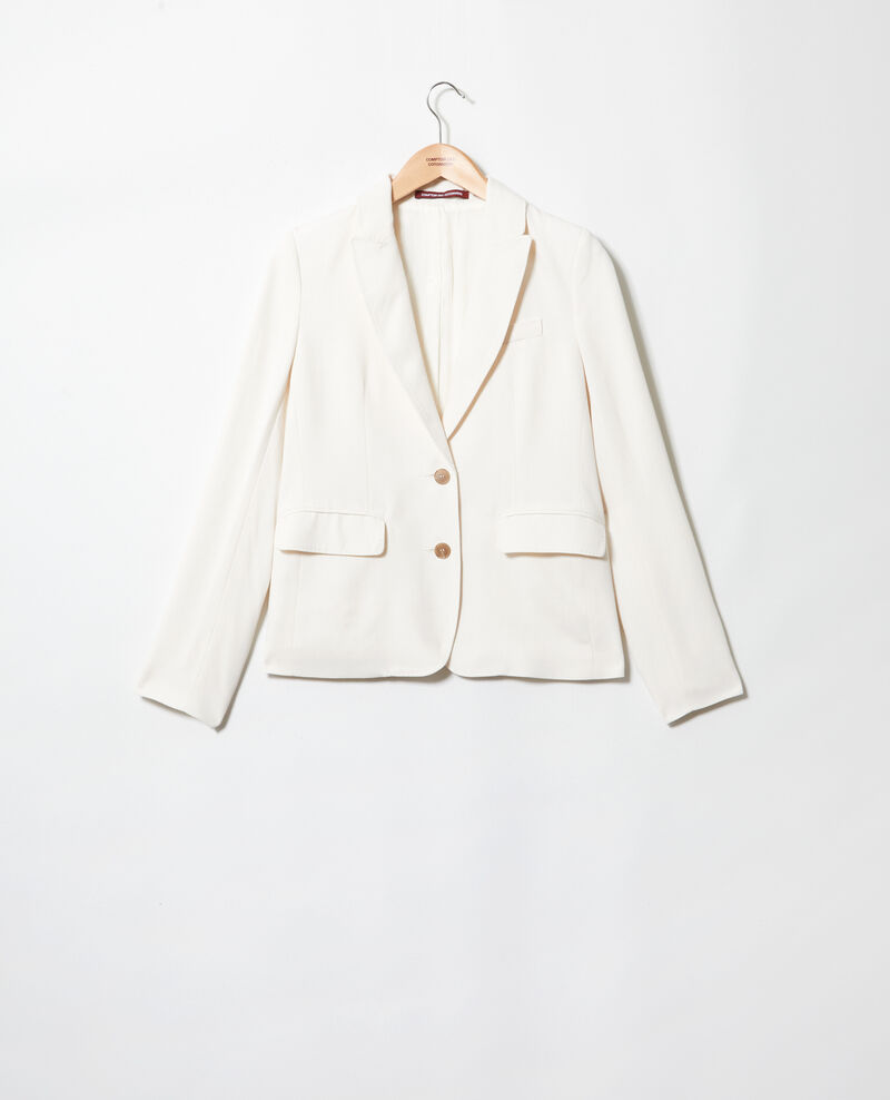 Veste de costume intemporelle Off white Itonnier