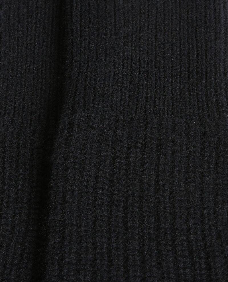 Gants mitaines en cachemire Black beauty Poitou