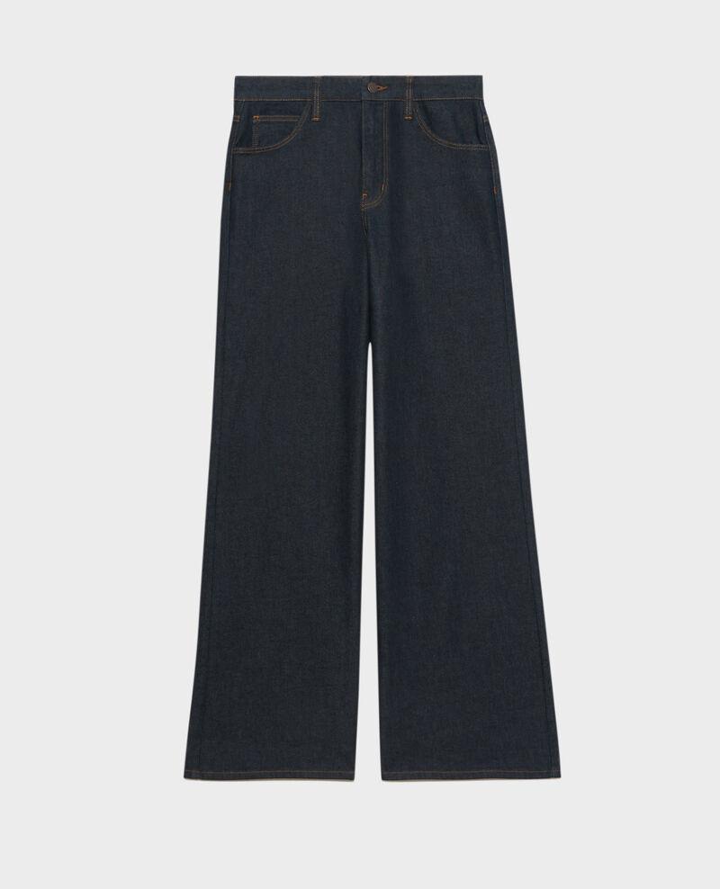 JEANETTE - FLARE - Jean taille haute Denim rinse Neuflizo