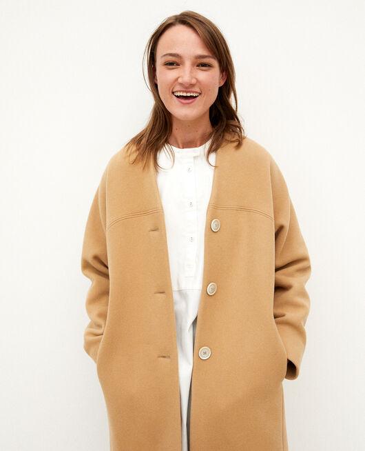 Manteau sans col TANNIN