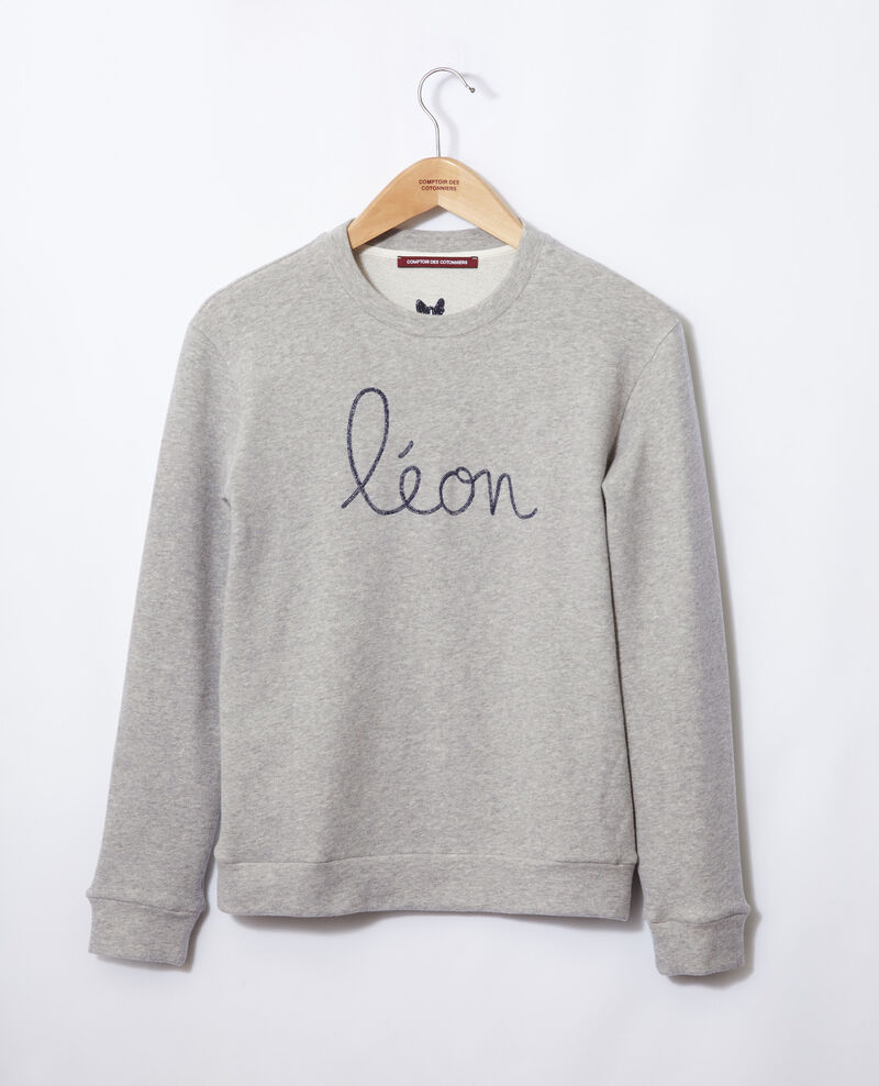 Sweatshirt brodé Léon Chine grey/peacoat Gleon