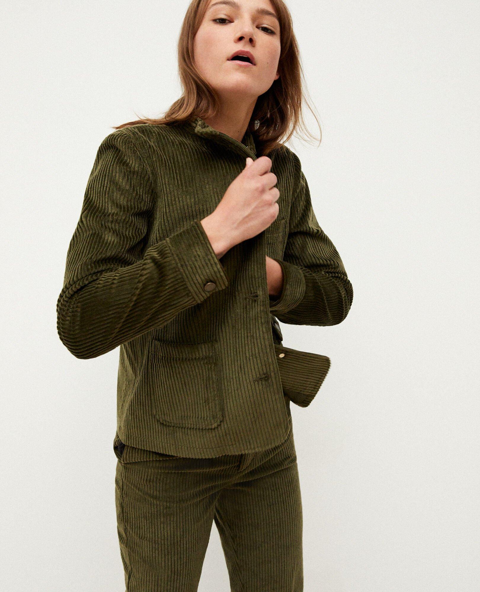 veste en velours cotelé pour femme