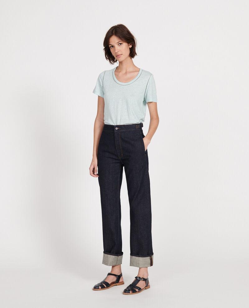 T-shirt en lin jersey  Blue haze Lye