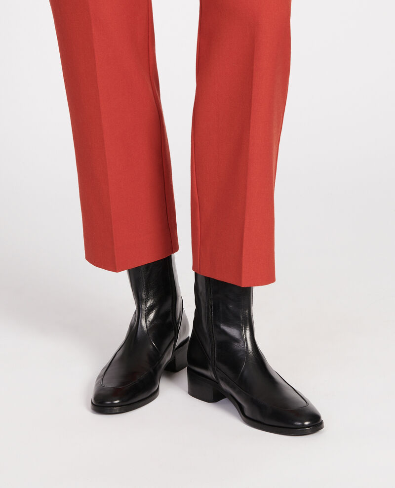 Boots ajustées en cuir Black beauty Lamine
