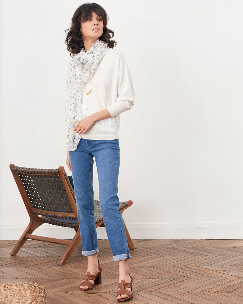 Pull manches 3/4 Off white Fabienne