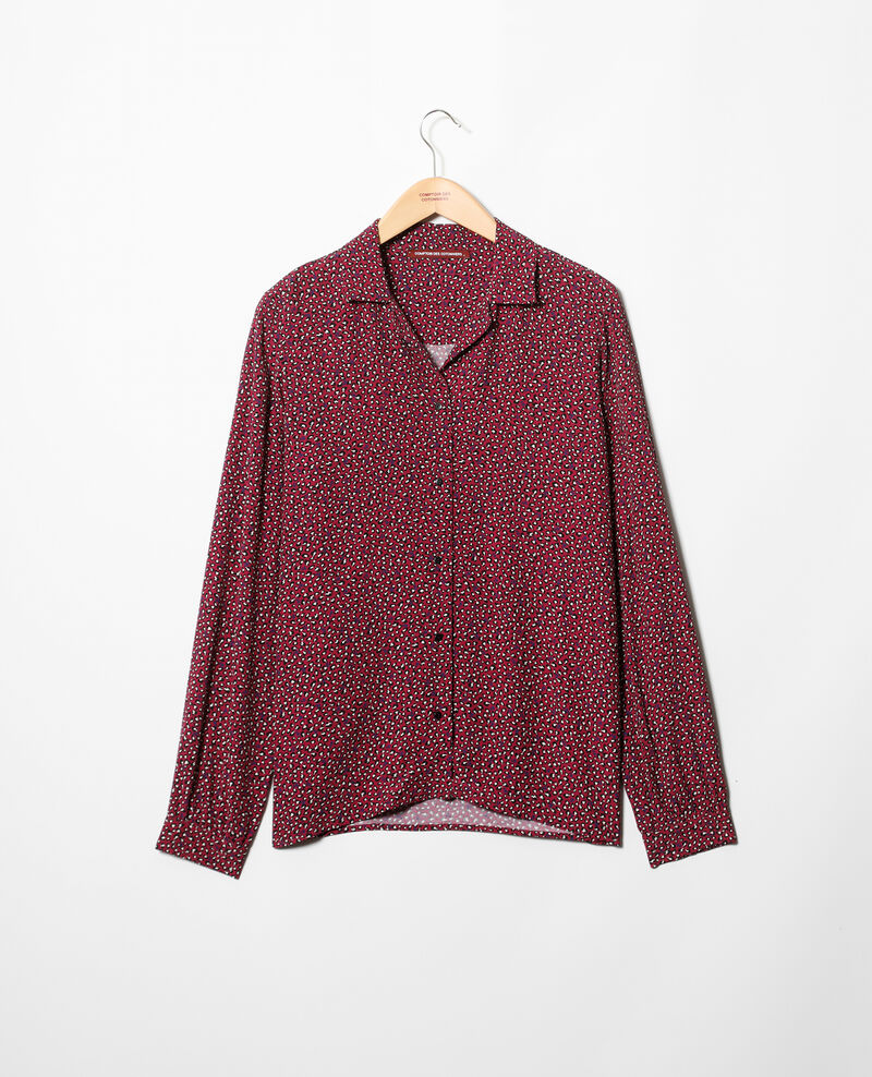 Chemise col ouvert Burgundy Gaby