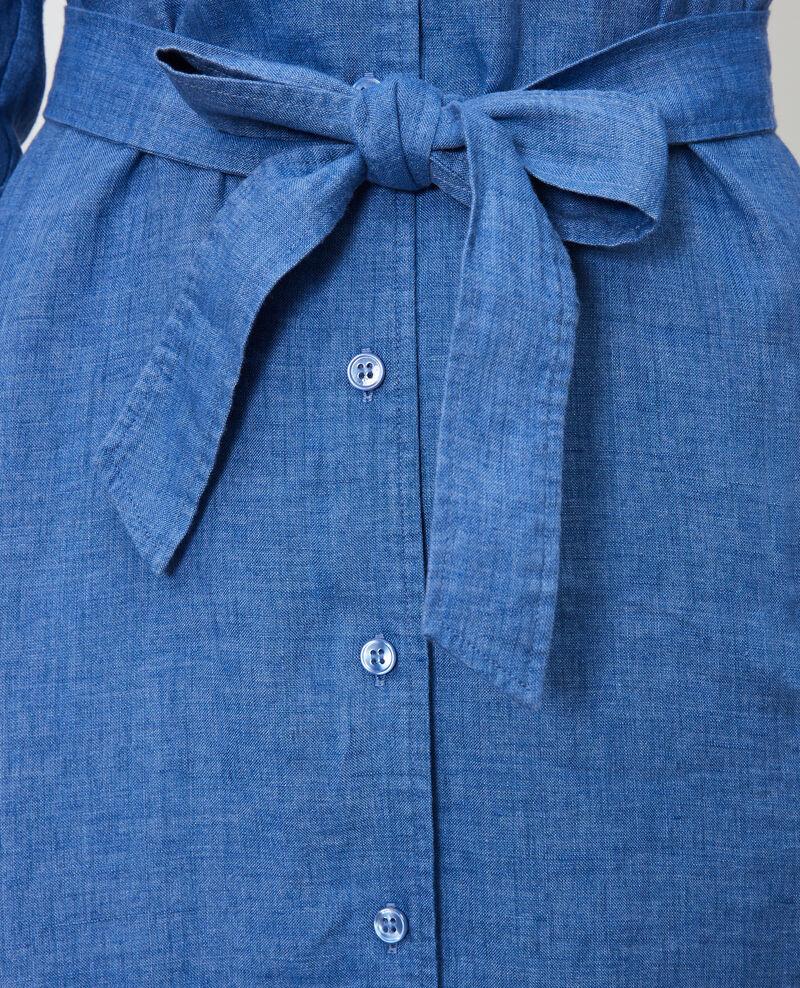 Robe chemise en lin Indigo Lesprit