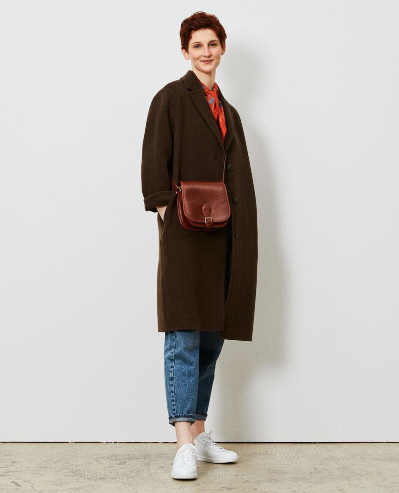 Manteau en laine Kaki Maclas