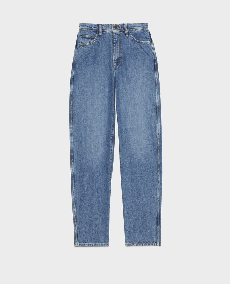 REAL STRAIGHT - Jean délavé taille haute 5 poches Light denim Merleac