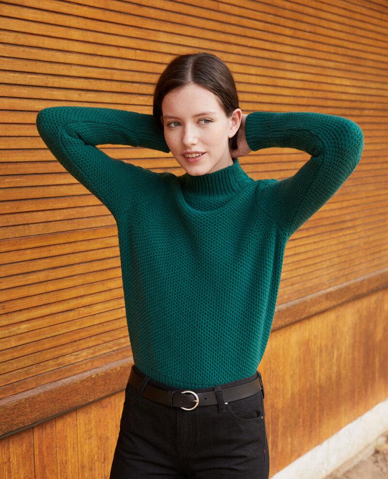Pull en laine avec détails de tresses Evergreen Garouk