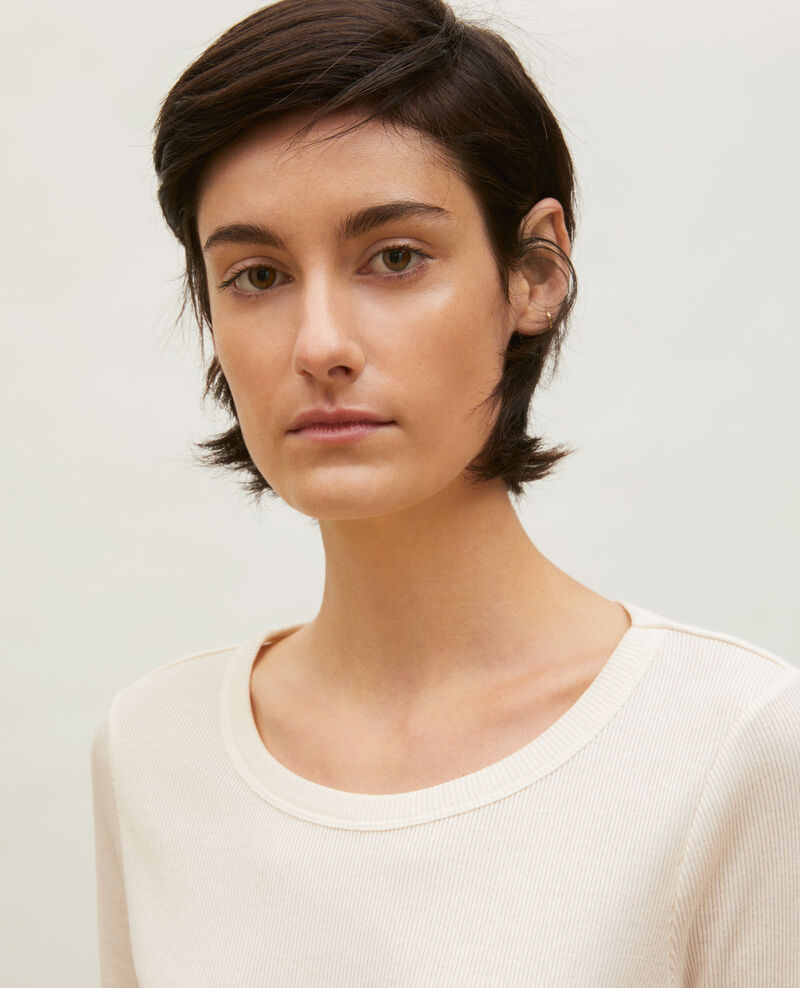 T-shirt fines côtes en coton mercerisé Buttercream Lasso