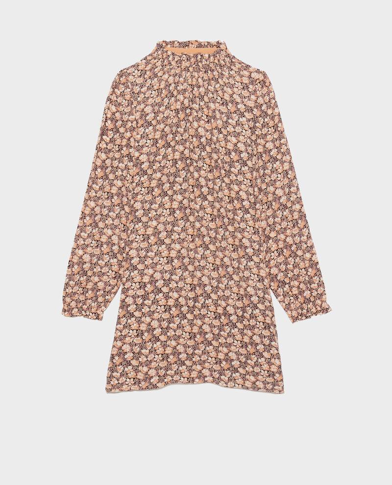 Robe courte à smocks Art deco gold Poisson