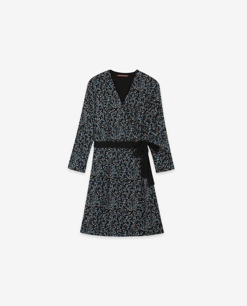 Robe cache-cœur imprimée Wildcat black Darleville