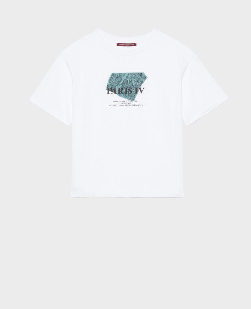 T-shirt en coton manches courtes Treillis Mariette