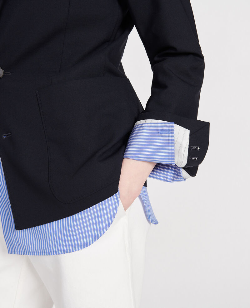 Blazer en laine légère Dark navy Luscadi