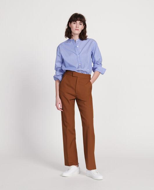 Pantalon droit en laine sèche MONKS ROBE