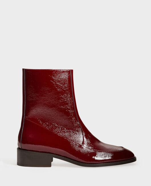 Boots ajustées en cuir ROYALE RED