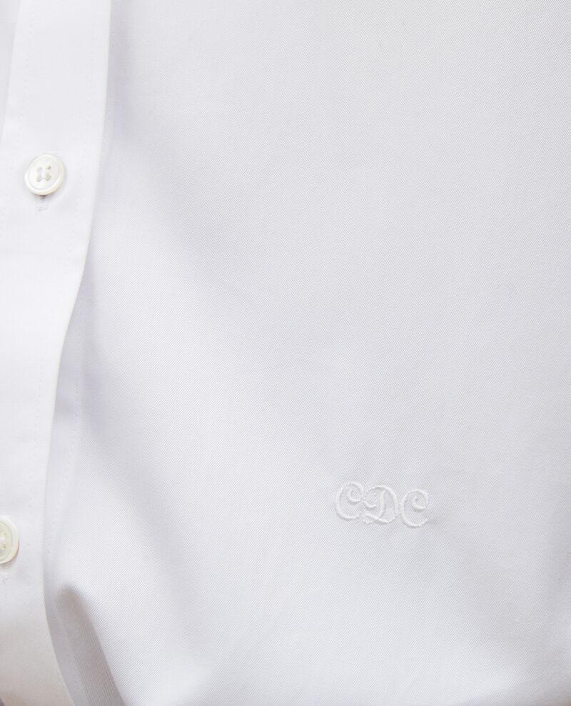 Chemise en coton col rond Brilliant white Mannion