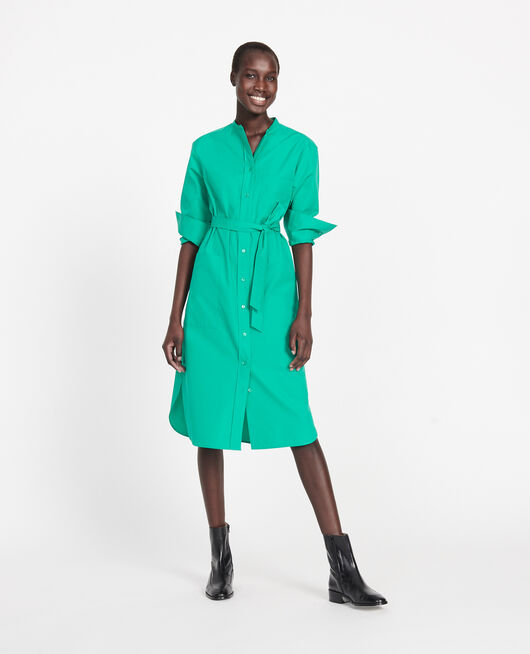 Robe en popeline de coton GOLF GREEN