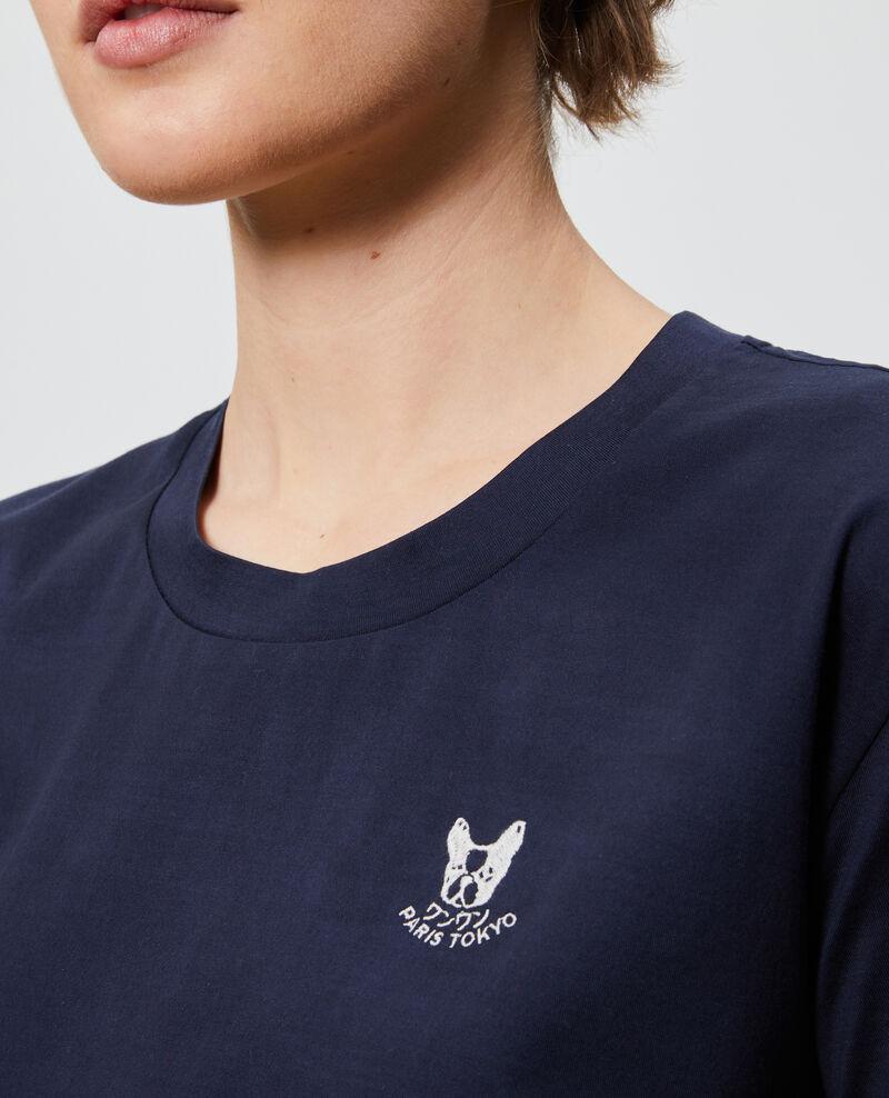 T-shirt brodé en coton Night sky Nagano