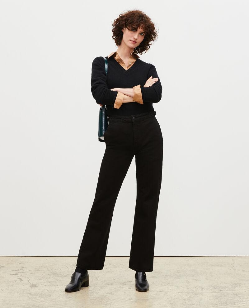 FLARE STRAIGHT - Pantalon ajusté en denim noir Noir denim Mespaul