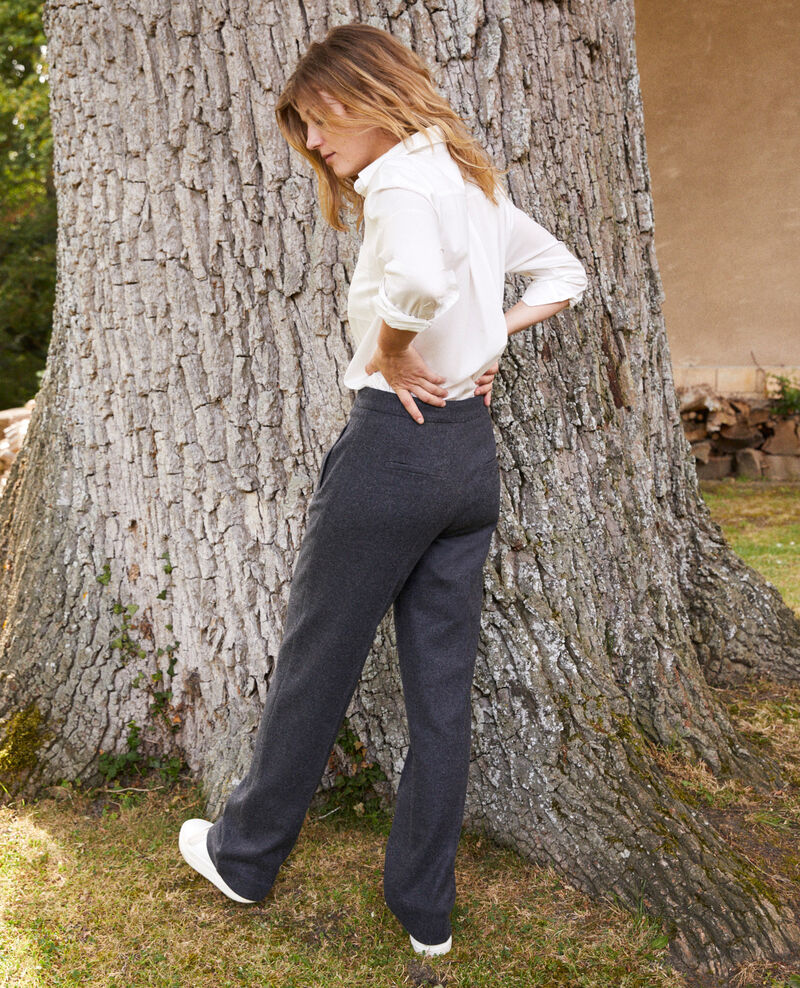 Pantalon tailoring avec de la laine Heather grey Jermes