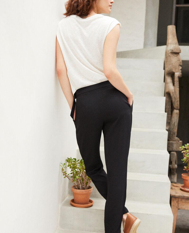Pantalon style sarouel   Noir Fetera