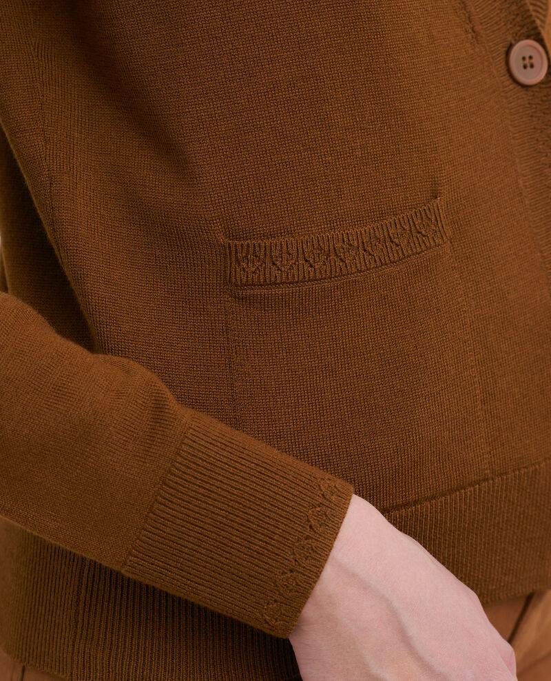 Cardigan court en laine mérinos Monks robe Palabre